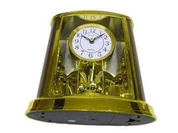 2 x MANTLE CLOCK WITH PENDULUM - LOUNGE CARRIAGE CLOCK bedroom hall dining